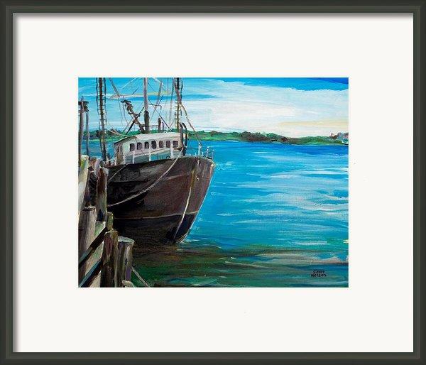 Portland Harbor - Home Again Framed Print By Scott Nelson