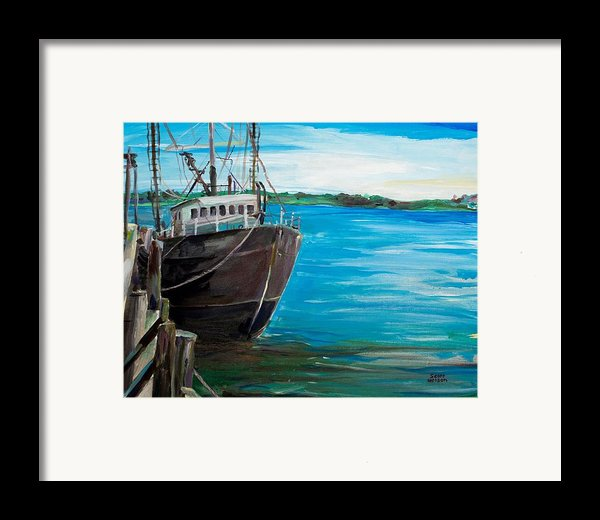 Portland Harbor - Home Again Framed Print By Scott Nelson