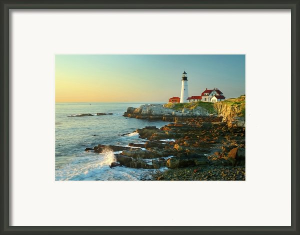 Portland Head Light No. 2  Framed Print By Jon Holiday