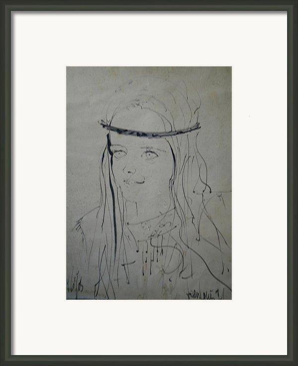 Portrait 1971 Colette Framed Print By Colette V Hera  Guggenheim