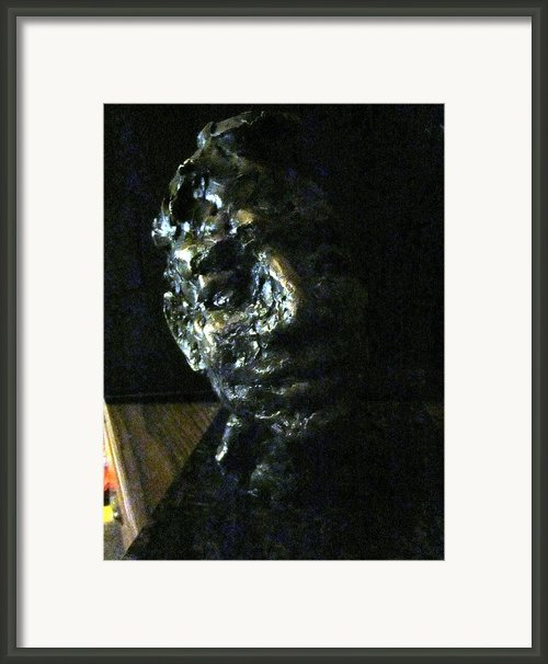 Portrait Head Framed Print By Lynnrose Light