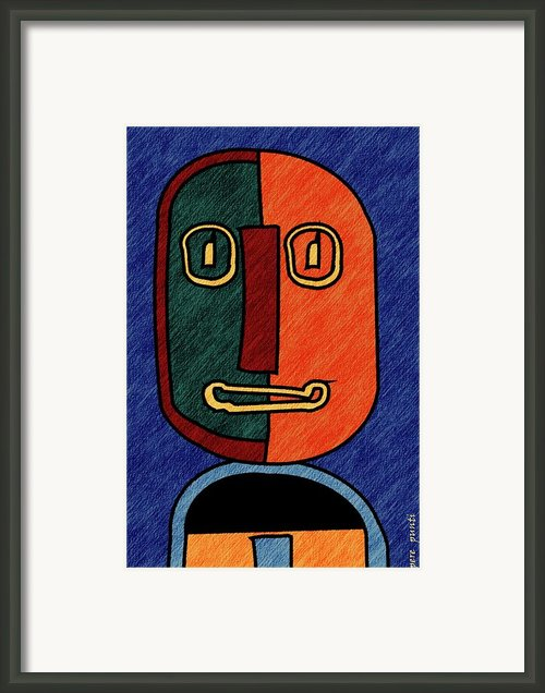 Portrait In Almonte Slam With Lines Framed Print By Pere Punti