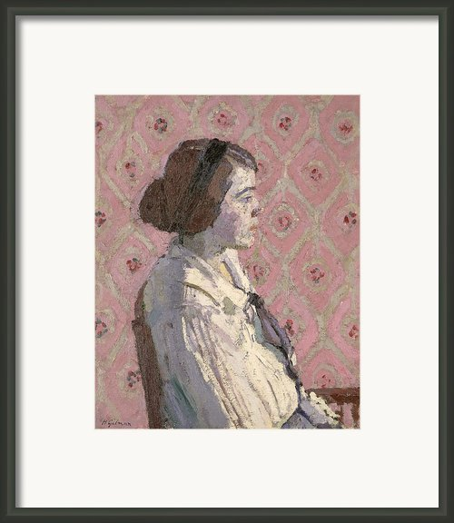 Portrait In Profile Framed Print By Harold Gilman
