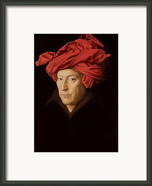 Portrait Of A Man Framed Print By Jan Van Eyck
