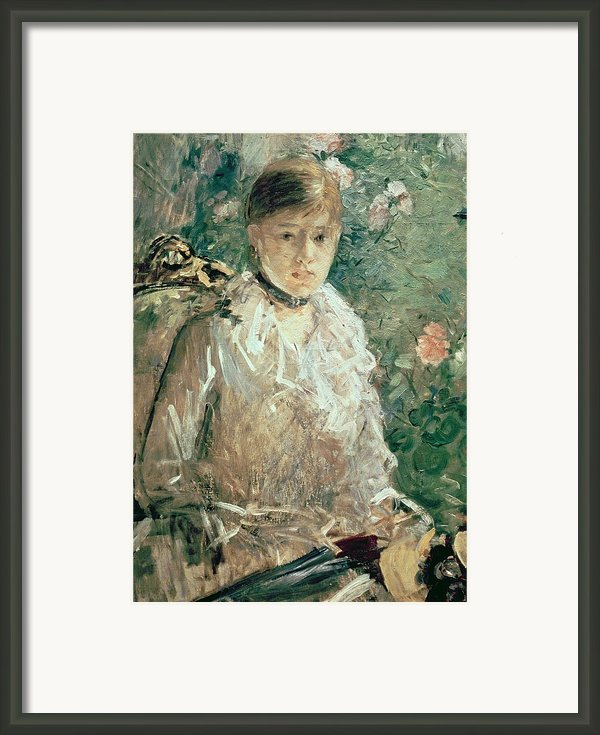 Portrait Of A Young Lady Framed Print By Berthe Morisot