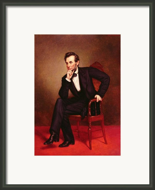 Portrait Of Abraham Lincoln Framed Print By George Peter Alexander Healy