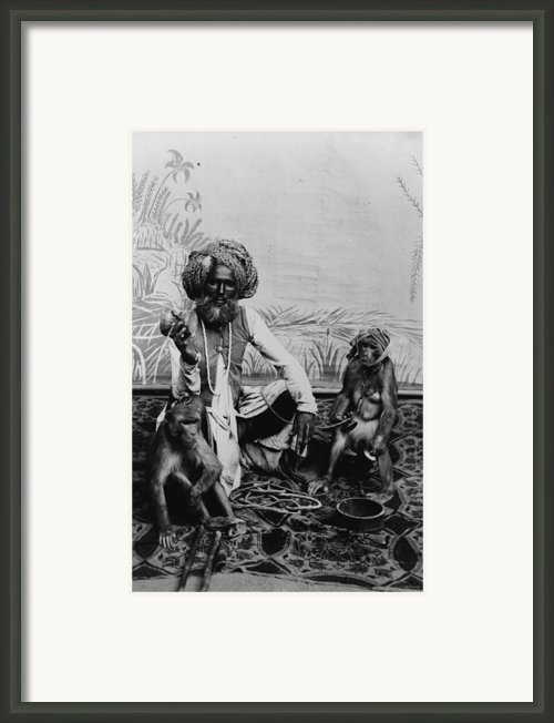 Portrait Of An Indian Fakir Framed Print By Everett