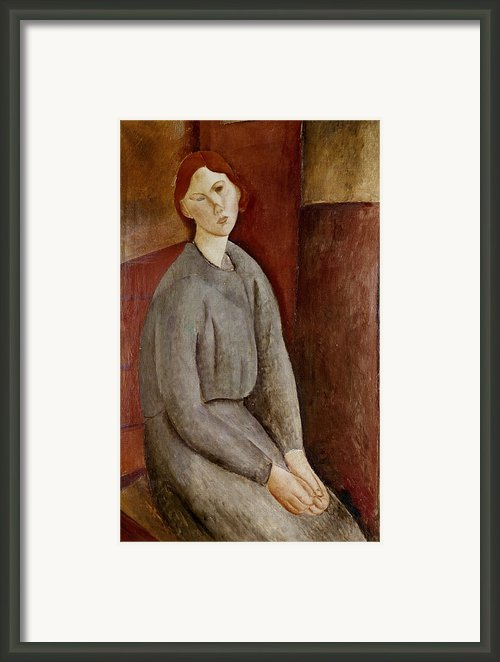 Portrait Of Annie Bjarne Framed Print By Amedeo Modigliani