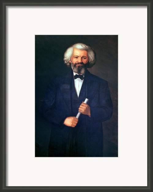 Portrait Of Frederick Douglass Framed Print By American School