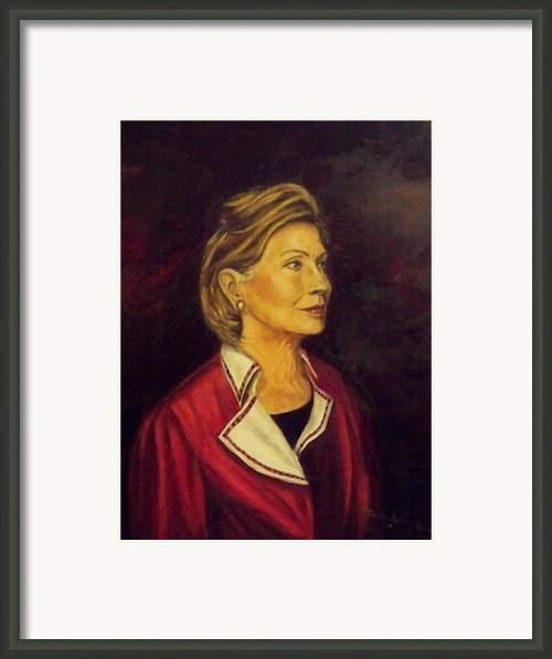 Portrait Of Hillary Clinton Framed Print By Ricardo Santos-alfonso