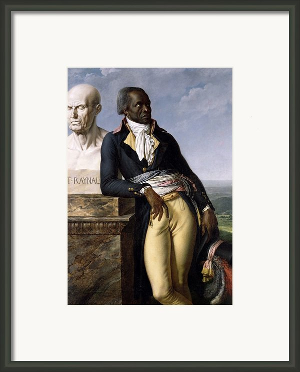 Portrait Of Jean-baptiste Belley Framed Print By Anne Louis Girodet De Roucy-trioson
