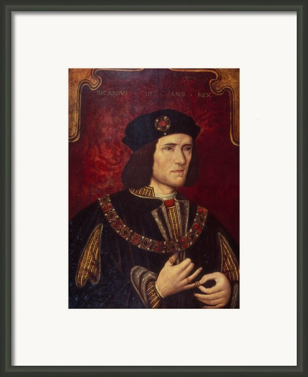 Portrait Of King Richard Iii Framed Print By English School