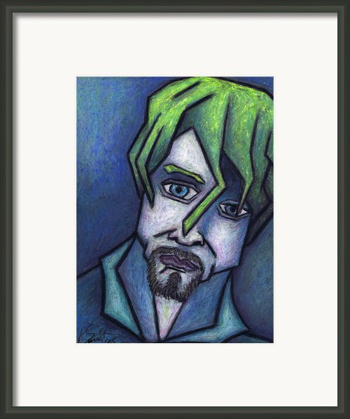 Portrait Of Kurt Framed Print By Kamil Swiatek