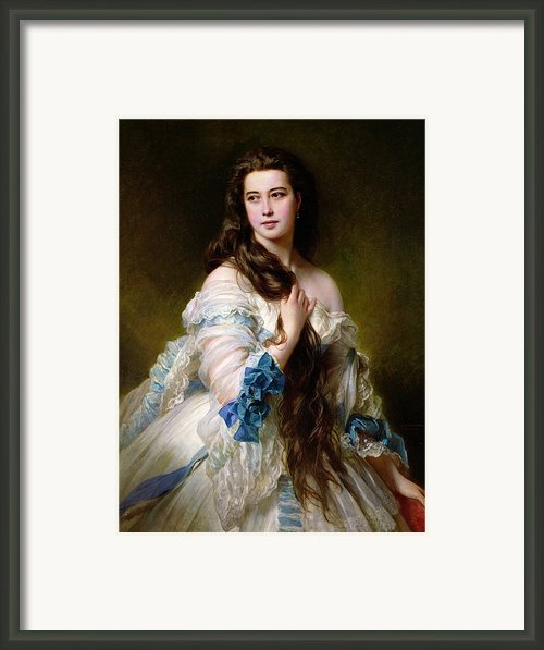 Portrait Of Madame Rimsky Korsakov Framed Print By Franz Xaver Winterhalter