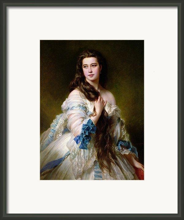 Portrait Of Madame Rimsky Korsakov Framed Print By Franz Xaver Winterhalter