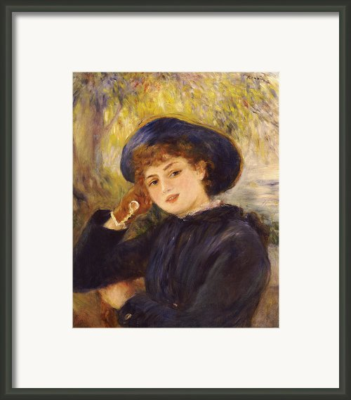 Portrait Of Mademoiselle Demarsy Framed Print By Pierre Auguste Renoir