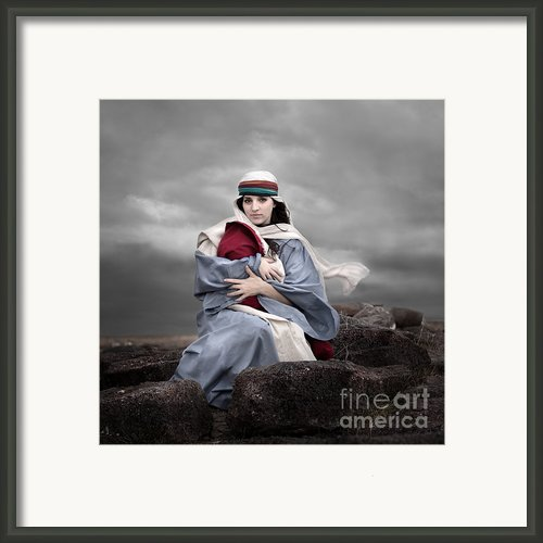 Portrait Of Mary Framed Print By Cindy Singleton