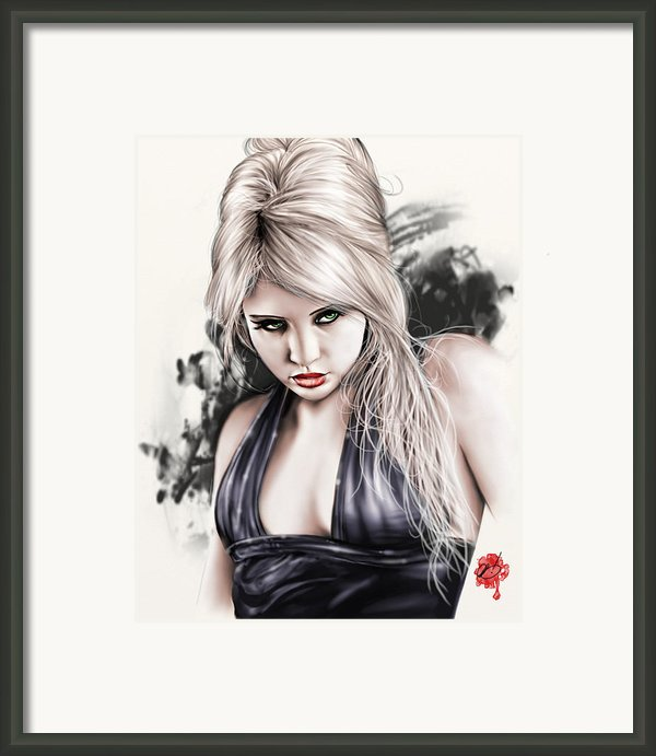 Portrait Of Miss Mosh Framed Print By Pete Tapang