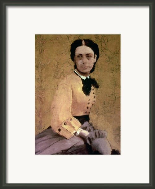 Portrait Of Princess Pauline De Metternich Framed Print By Edgar Degas