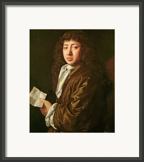 Portrait Of Samuel Pepys Framed Print By John Hayls