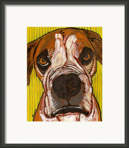 Portrait Of Sweetness Moe Framed Print By David  Hearn