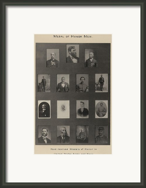 Portraits Of 15 African American Framed Print By Everett