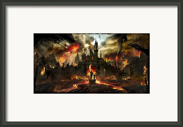 Post Apocalyptic Disneyland Framed Print By Alex Ruiz