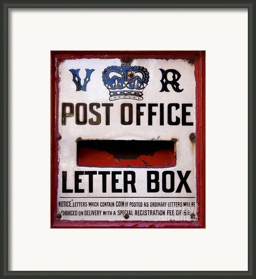 Post Box Framed Print By Jane Rix