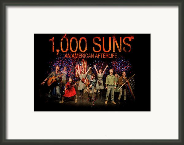 Poster For 1000 Suns - An American Afterlife Framed Print By Gary Eason