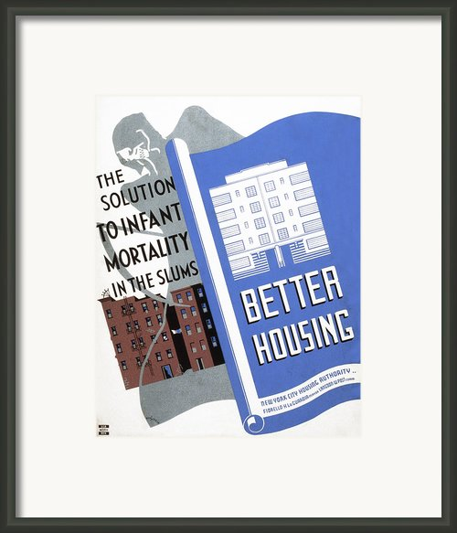 Poster Promoting Better Housing Framed Print By Everett