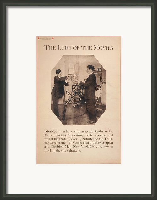 Poster Showing Disabled Man Working Framed Print By Everett