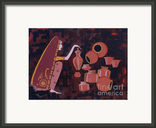 Potter Framed Print By Vilas Malankar