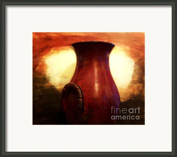 Pottery From Italy Framed Print By Marsha Heiken