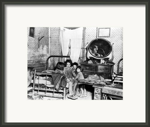Poverty Stricken Children In A Rural Framed Print By Everett