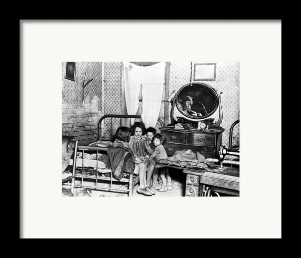 Poverty Stricken Children In A Rural Framed Print By Everett