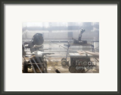 Power Tools Behind Plastic Sheet Framed Print By Andersen Ross
