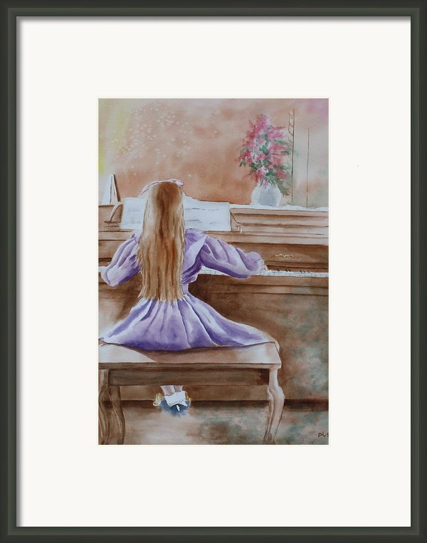Practice Makes Perfect Framed Print By Patsy Sharpe