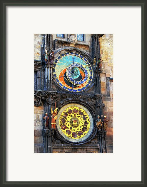Prague Astronomical Clock 2 Framed Print By Mariola Bitner