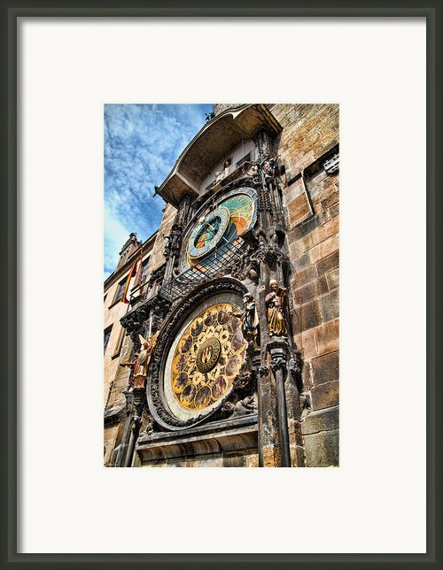 Prague Astronomical Clock Framed Print By Jon Berghoff