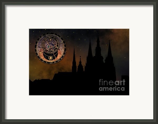 Prague Casle - Cathedral Of St Vitus - Monuments Of Mysterious C Framed Print By Michal Boubin