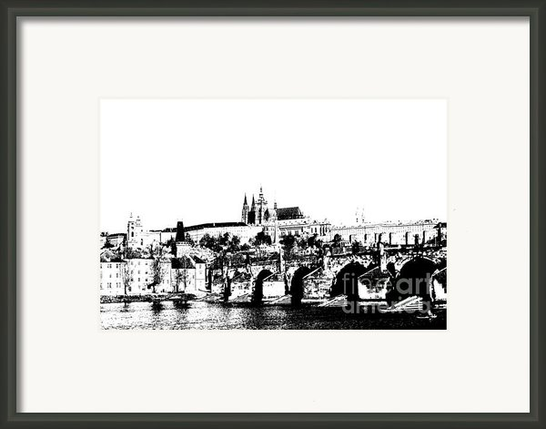 Prague Castle And Charles Bridge Framed Print By Michal Boubin