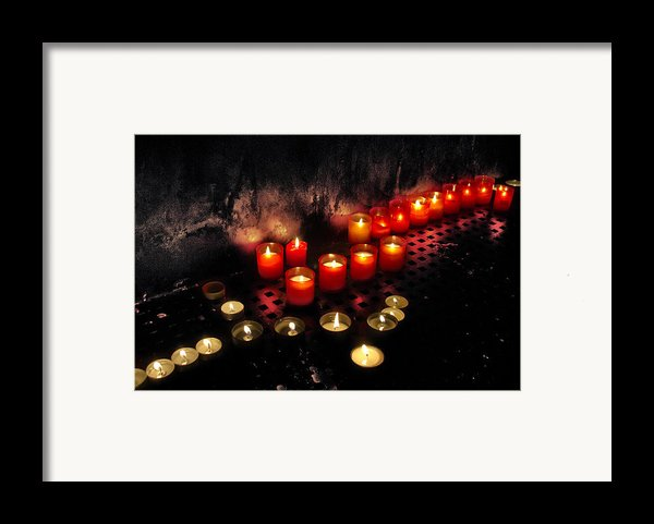 Prague Church Candles Framed Print By Stylianos Kleanthous