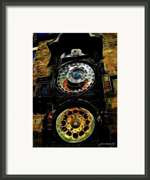 Prague Clock Framed Print By Joan  Minchak