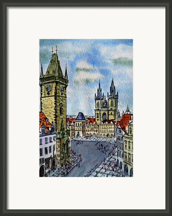 Prague Czech Republic Framed Print By Irina Sztukowski
