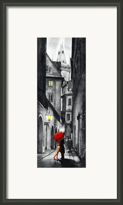 Prague Love Story Framed Print By Yuriy  Shevchuk