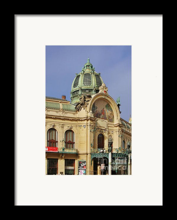 Prague Obecni Dum - Municipal House Framed Print By Christine Till