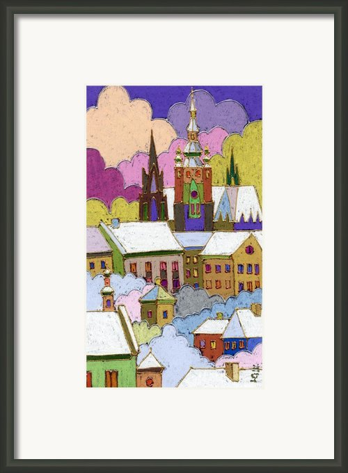 Prague Old Roofs Prague Castle Winter Framed Print By Yuriy  Shevchuk