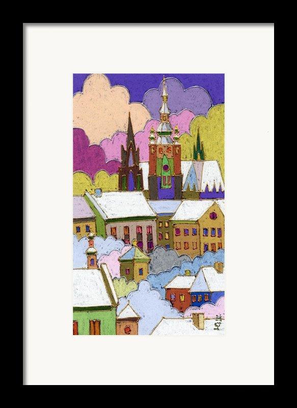 Prague Old Roofs Prague Castle Winter Framed Print By Yuriy  Shevchuk