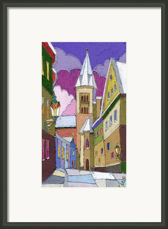 Prague Old Street Jilska Winter Framed Print By Yuriy  Shevchuk