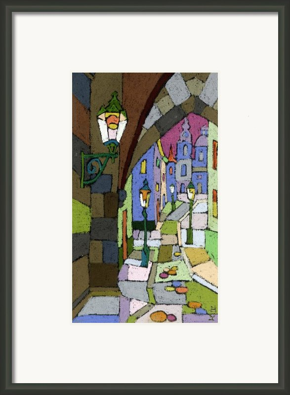 Prague Old Street Mostecka Framed Print By Yuriy  Shevchuk